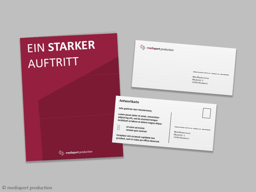 kuvertiertes Prospektmailing mit Antwortkarte